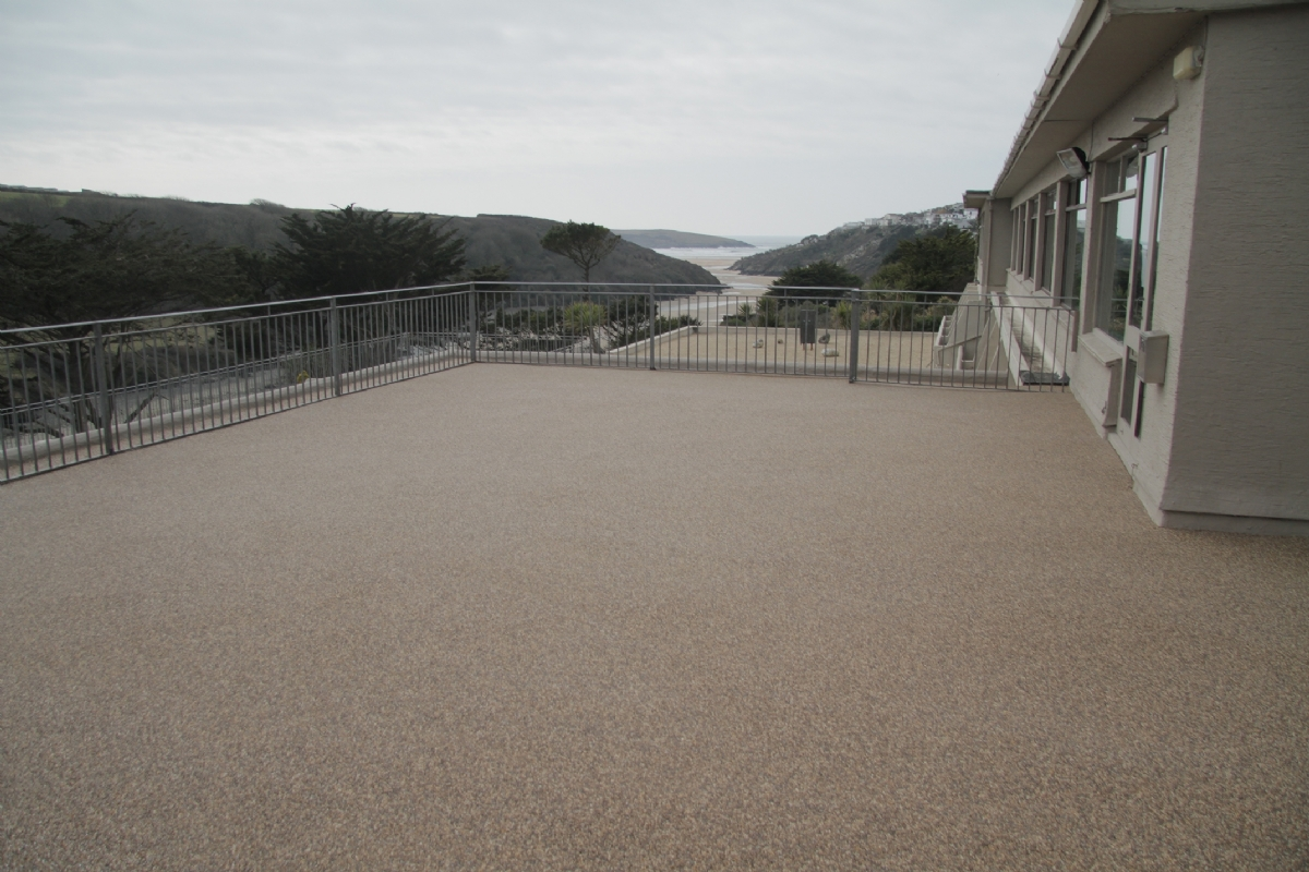 Oltco Resin Bound Gravel Balcony at Hotel California, Newquay