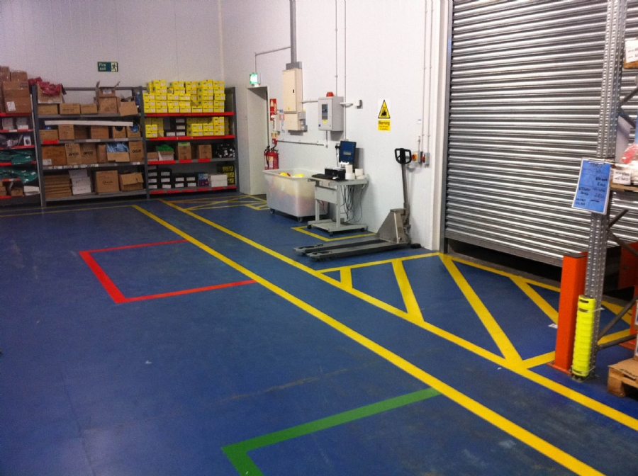 Example image warehouse plan - Oltco Commercial Flooring Cornwall Line Marking For