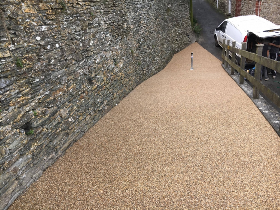 Low maintenance paving for drives, patios and paths