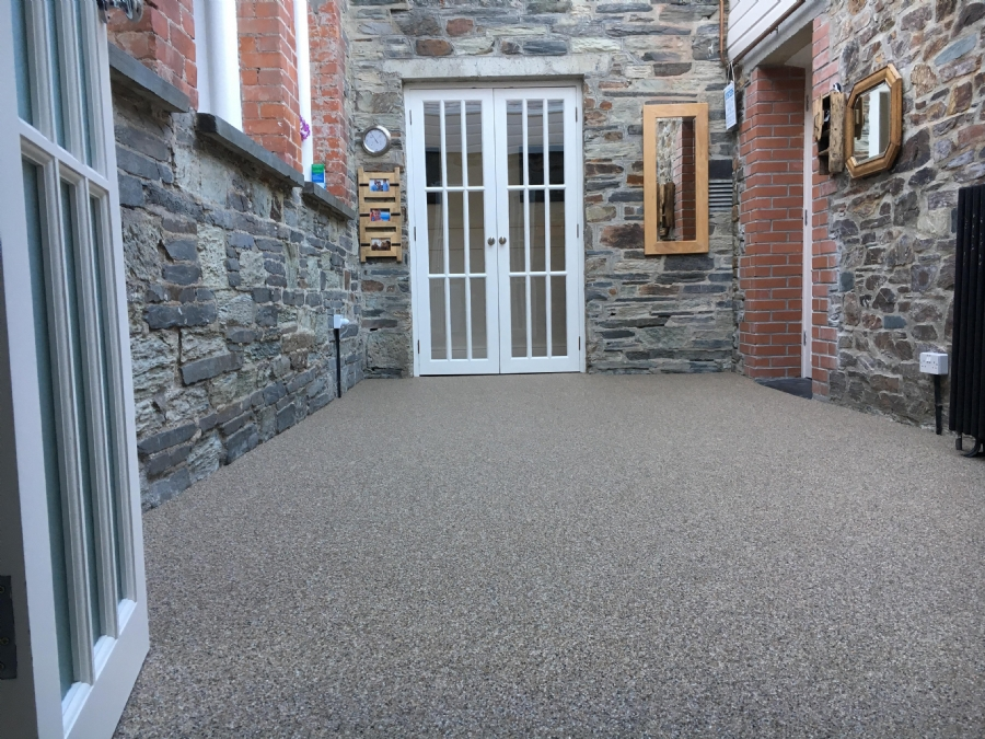 Complete paving update for this stunning stone building