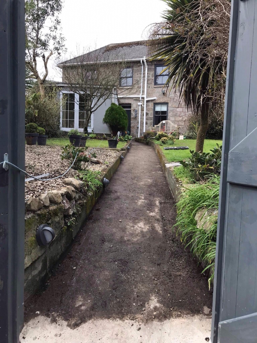 Cornish Cottage Updates Pathways with resin Bound Gravel