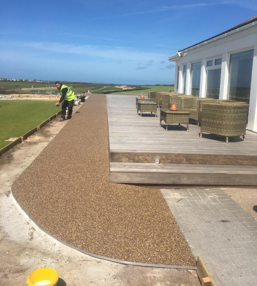 Resin Bound Gravel Paving At Trevose Golf Club