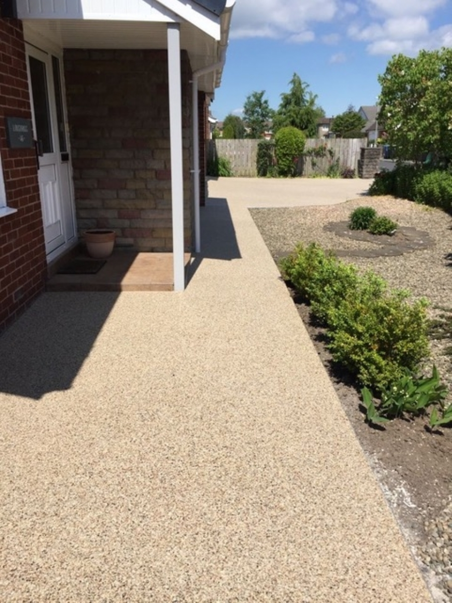 New Resin Bound Gravel driveway for a home in Blackpool