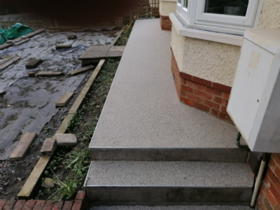Oltco Bath transform outside space with Recycle Bound pathway