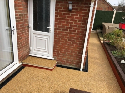 OLTCO UPDATES PATIO AREA WITH RESIN FOR RETURNING CUSTOMER