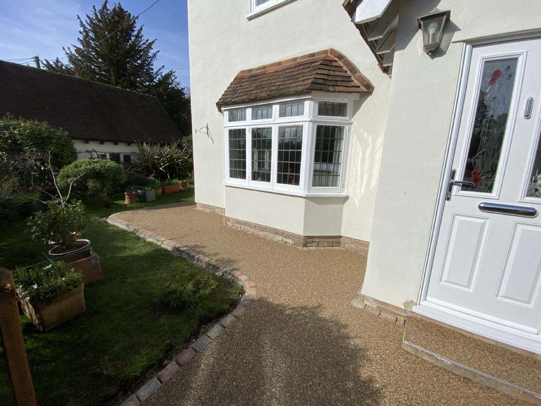 Resin bound patio and pathway transformation in Colchester, Essex