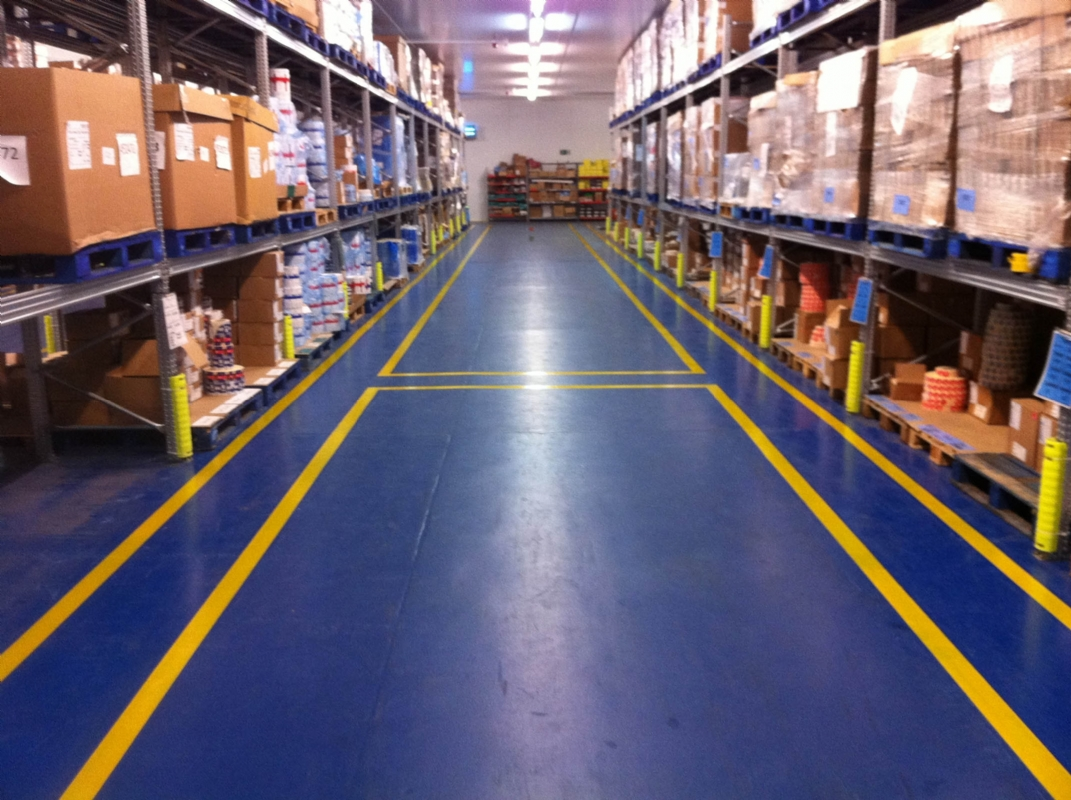 Oltco Resin Flooring Specialists Install Walkways To Factory Floor