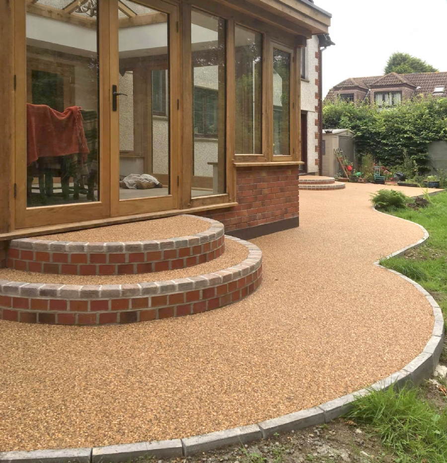 Combining old and new with resin bound gravel