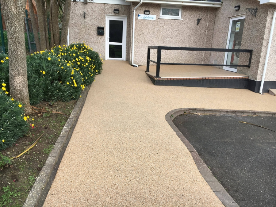 New resin flooring for Porth Beach Holiday Park