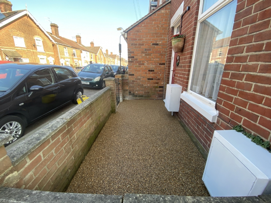 Anti-slip resin bound patio for a customer in Colchester, Essex
